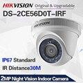Hikvision 영어 버전 4 in 1 전환 가능한 DS-2CE56D0T-IRF HD1080P CCTV 보안 카메라 IR 20m 2MP 야간 투시경 실내 카메라