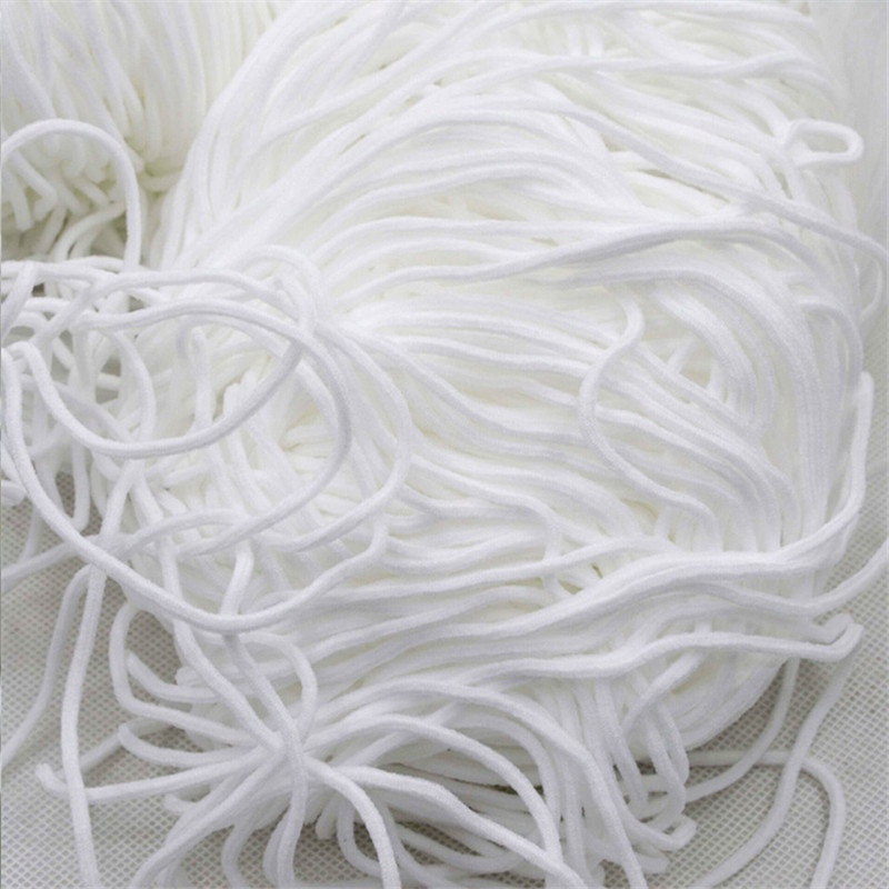 "DIY 1//10/"" Round Elastic Cord Protective Clothing Accessories Ear Hanging Craft"