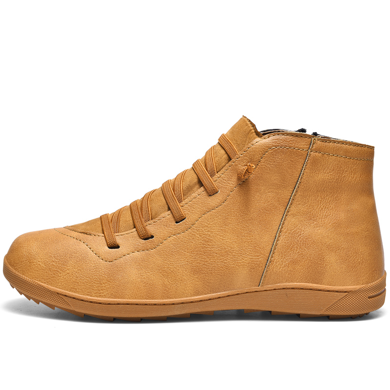 Genuine Leather Lover's <font><b>Shoes</b></font> <font><b>Men</b></font> HOT Ticktok Casual <font><b>Mens</b></font> High Tops Brand Designer <font><b>Shoes</b></font> Size 36 46 47 Breathable DropShipping image