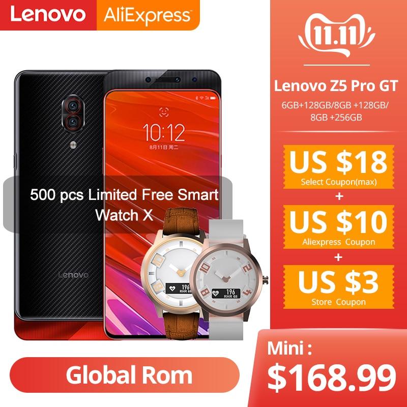 Original Global ROM Lenovo Z5 Pro GT Snapdragon 855 Smartphone 6GB 8GB RAM 256GB ROM 6.39 In Screen Fingerprint 24MP NFC-in Cellphones from Cellphones & Telecommunications