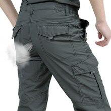 Oddychające lekkie wodoodporne szybkie suche spodnie na co dzień mężczyźni lato armia styl wojskowy spodnie męskie taktyczne spodnie w stylu Cargo mężczyzna