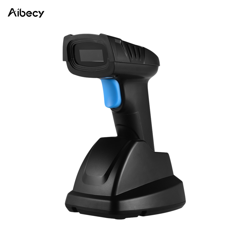 Ручной 1D 2D QR беспроводной сканер штрих-кода Aibecy, считыватель штрих-кода 2,4G, беспроводной сканер для розничного магазина, Мобильных Платежей