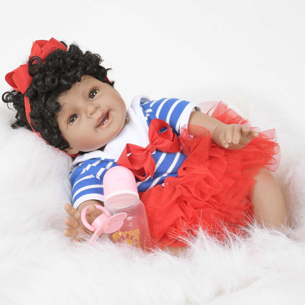 """22 """"elegante bebe reborn silicone pano de vinil corpo lifelike recém-nascido forma realista boneca do bebê brinquedo para o dia das crianças presentes do miúdo"""