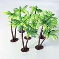 1 комплект Пластик кокосовый пальмовый дерев миниатюрные растения горшках бонсай ремесло микро пейзаж DIY Декор Искусственный узором кокосо...