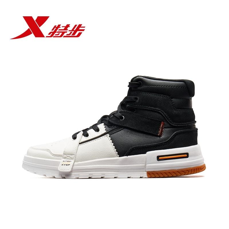 Xtep Men High Cut Skateboarding Shoes Fashion Male Spring Winter Skateboard Sneaker For Men's Shoes 981419316223