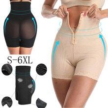Hoge Taille Body Shaper Butt Lifter Met Tummy Controle Shapewear Boyshorts Sexy Lingerie Naadloze Dij Slimmer Vrouwen Plus Size