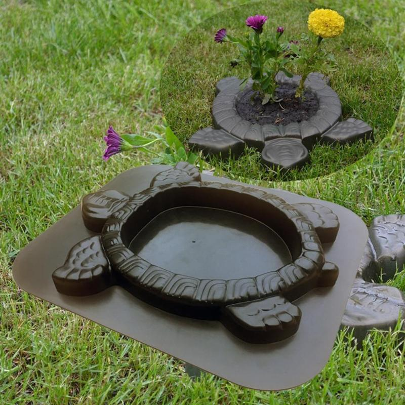 Path Maker Mold Reusable Concrete Cement Stone Design Garden Path Paving Turtle Concrete Cement Mould Paver Walk Mould DIY Decor