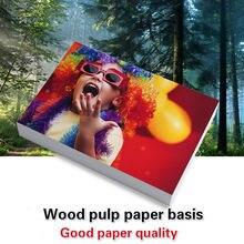 4r 6-inch 4x6 100 folhas de papel fotográfico para impressoras a jato de tinta lustrosas suprimentos de impressão papel de papel revestido a cores foto