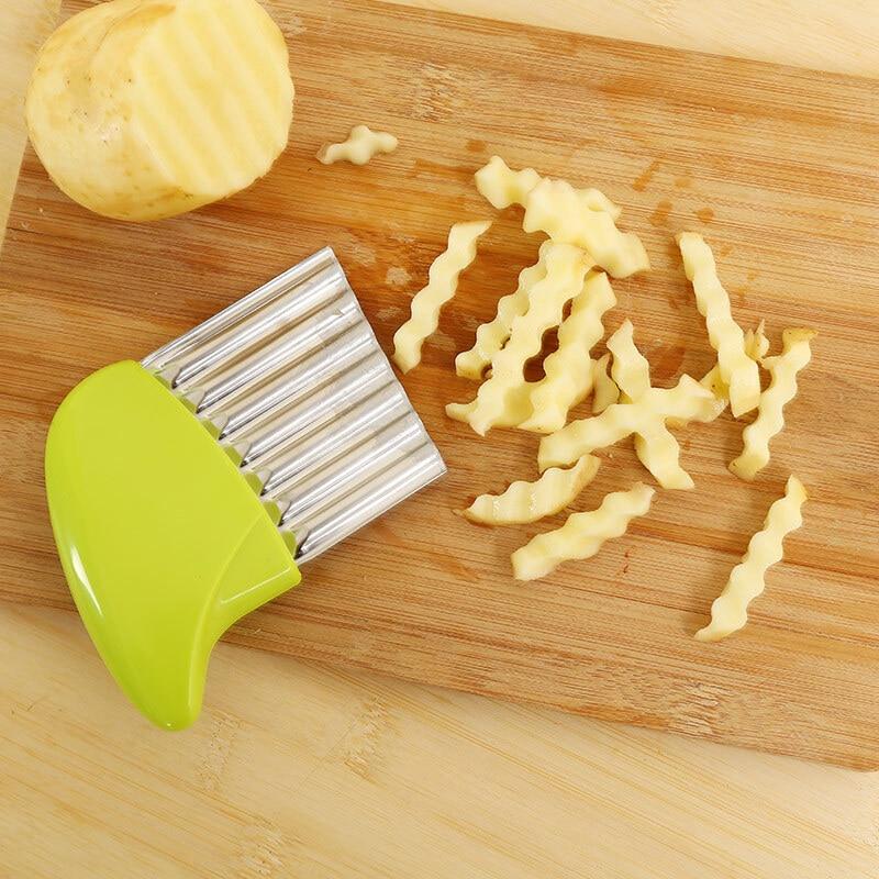 Волнистая форма, слайсер для лука и картофеля, практичная машина для резки картофеля фри, салатов, многофункциональная машина для нарезки, к...