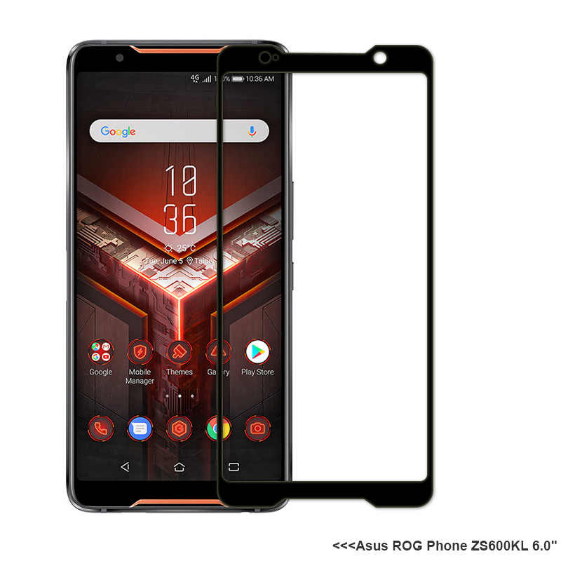 XSDTS מזג זכוכית עבור עבור Asus ROG טלפון השני ZS600KL מלא כיסוי מסך מגן מגן סרט