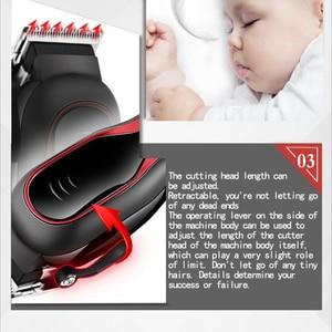 Image 4 - Réglable 12W électrique tondeuse à cheveux AC220   240V tondeuse à cheveux tondeuse coupe de cheveux outil de coiffure avec peigne cheveux découpeuse 41D