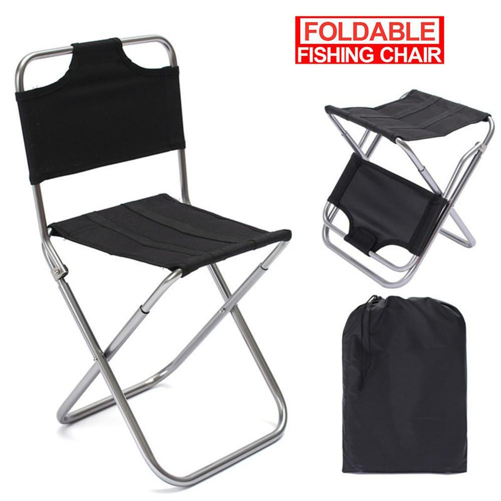 HobbyLane Outdoor Foldable Fishing Chair Ultra-light Weight Foldable Chair Recreational  For Outdoor Hunting Climbing Equipment