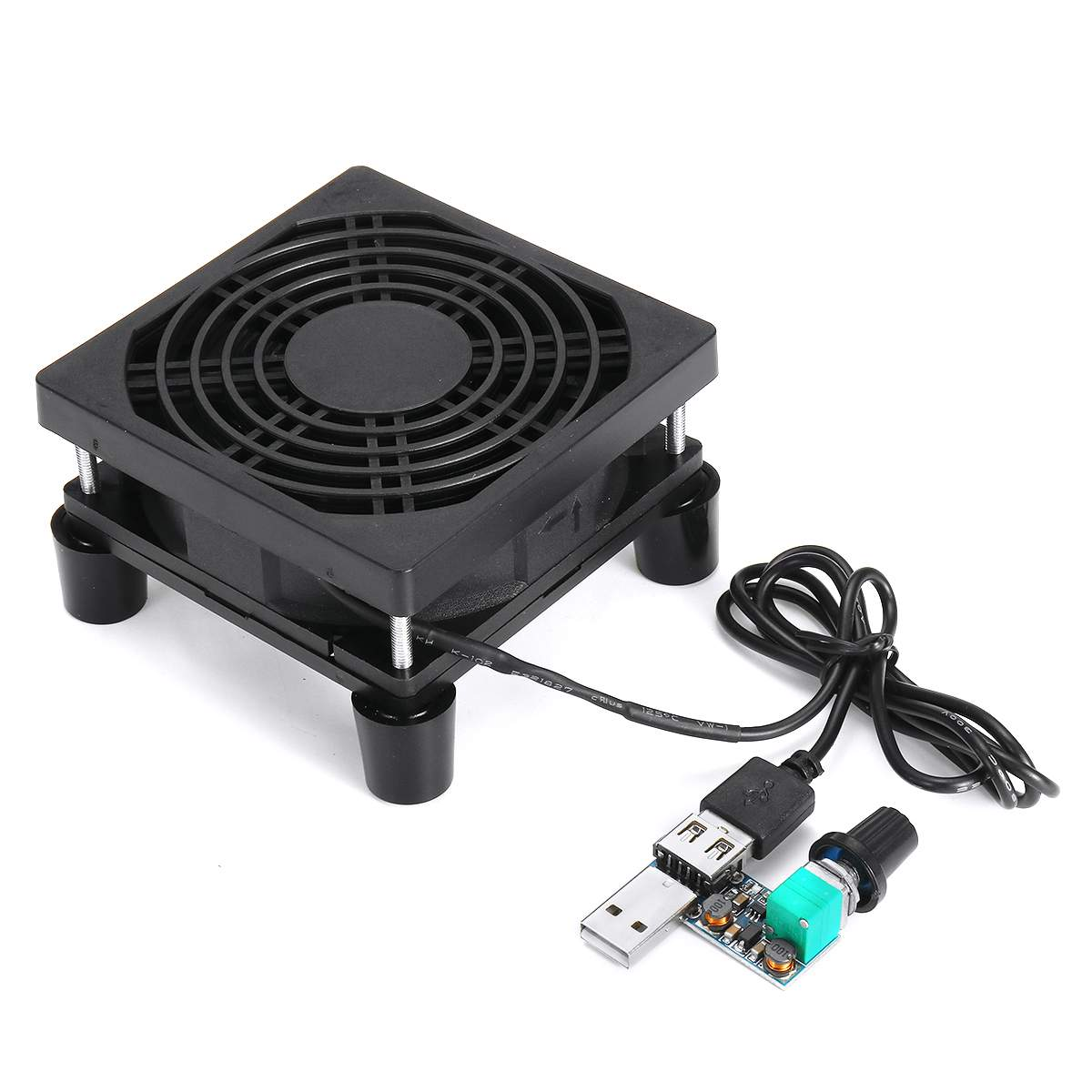 DIY 9cm Router Cooling Fan Rack Speed Controller PC Cooler TV Box Wireless Cooling Fan Quiet DC 5V USB Fan With Protective Net