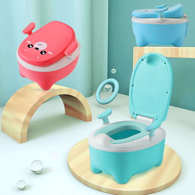 Cute Animal Design Child Potty, Bear Design Potty Chair, Safe Material Baby Potty Toilet For Free Potty Brush