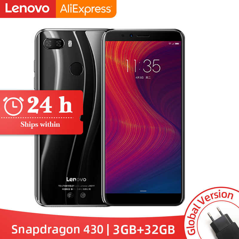 "Stock Global Version Lenovo K5 Play 3GB 32GB Snapdragon 430 OCTA Core 1.4G 5.7 ""18:9 ลายนิ้วมือ"
