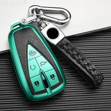 Лидер продаж кожа + ТПУ автомобиля чехол держатель для ключа