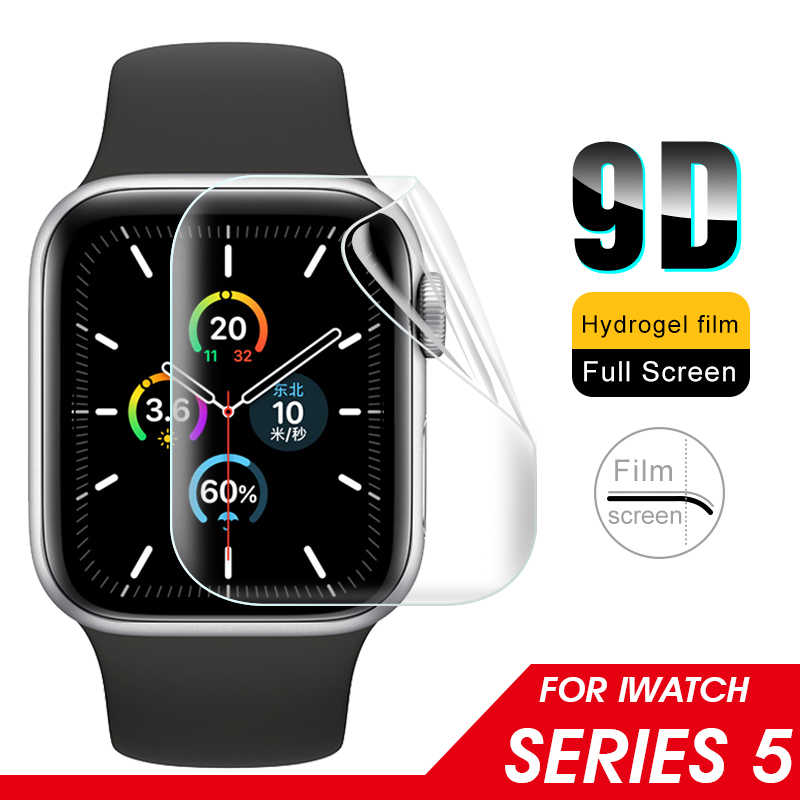 9D Soft Hydrogel Full Cover Screen Protector Film For Apple Watch 40mm 44mm Protective Tempered Film For iWatch 5 Not Glass