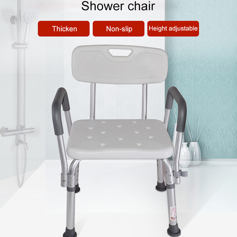 Bathroom Elderly Pregnant Women Shower Special Waterproof Non-Slip Care Safety Chair Multi-Function Stainless Steel Bath Folding