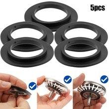 5pcs Rubber Seal Washer Gasket Strainer Washers Replaces For Franke Basket Strainer Plug For 78 79 80 82 83mm