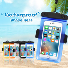 Waterproof Swimming Bag Cell Phone Under Water Armbands Beach Pouch Case Diving Camping Sports Dry Free Hands Cover Lanyard