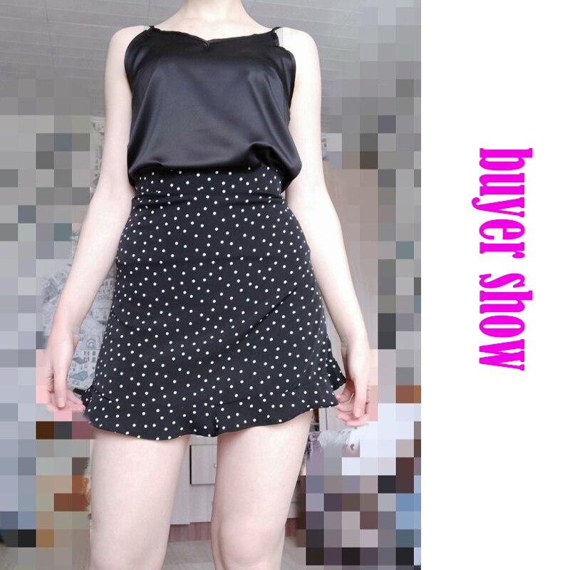 Toppies Women Dots Mini Skirt Green White Saia High Waistline Faldas sexy Skirts 2020 Summer 2