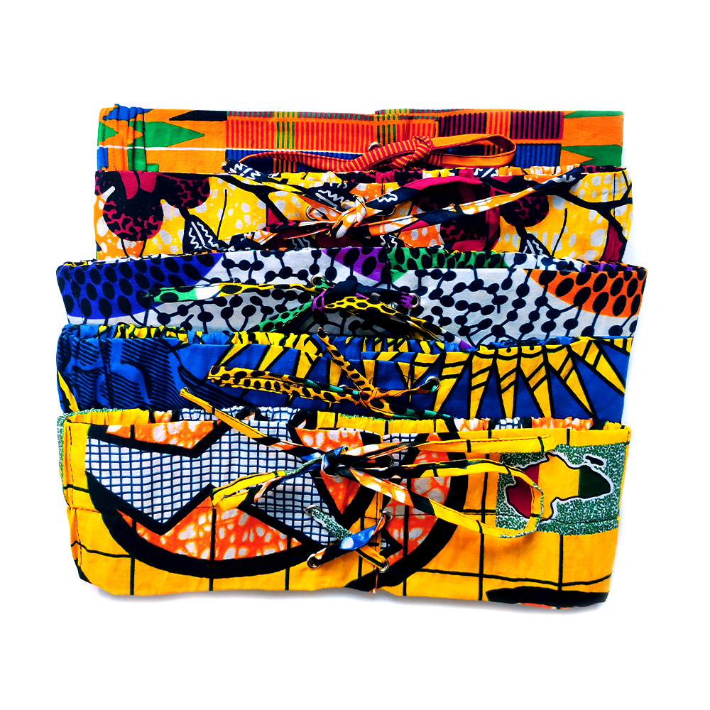 African Print Ankara Cotton Wax Belt Button Skirts For Women Gift Handmade Statement Belt Accessory