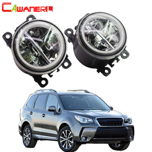 Cawanerl Auto LED Nebel Licht + Angel Eye DRL Tagfahrlicht 4000LM 12V Für Subaru Forester 2013 2014 2015 2016 2017 2018