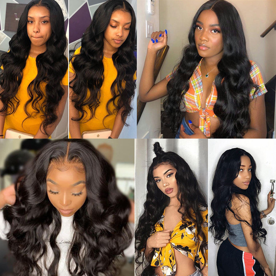Lace Frontal  Wig 13*4 Pre Plucked With Baby Hair  Body Wave  Wigs  Hair 360 Lace Frontal Wigs 6