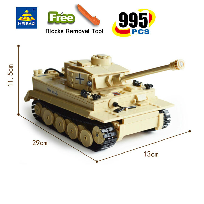 Image 5 - 995pcs Military German King Tiger Tank Panzer IV Tank Building Blocks Compatible All Brands brand Army WW2 Soldier Weapon BrickBlocks   -