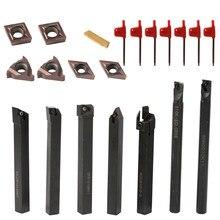 Ferramentas de torneamento multifuncional inserções de carboneto sólido titular chave conjunto chato barra torno torneamento ferramentas 8mm/10mm /12mm /16mm