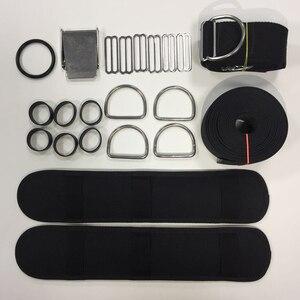 Image 5 - צלילה Backplate לרתום סופגנייה BCD מחזיק מפשעה רצועת משקל חגורת צלילה אבזרים