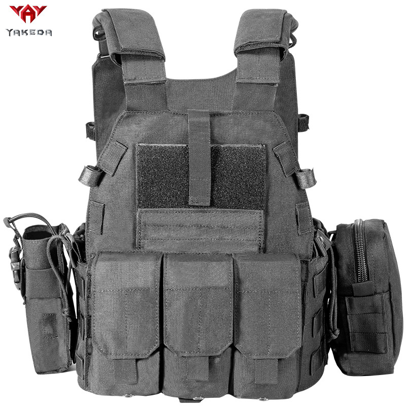 Yakeda New Style Battle Vest Forest Outdoor Tactical Vest Camouflage Tactical Vest Outdoor Training Equipment Portable Kit
