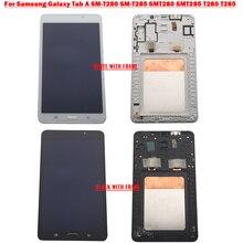 """7.0 """"لسامسونج غالاكسي تبويب SM T280 SM T285 SMT280 SMT285 T280 T285 LCD عرض تعمل باللمس محول الأرقام شاشة الجمعية إصلاح أجزاء"""