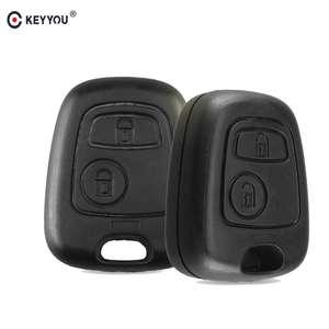KEYYOU No Blade 2 Button Remote Car Key Case Shell Fob For Citroen C1 C2 C3 C4 XSARA Picasso For Peugeot 307 107 207 407