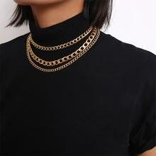 Женская многослойная цепочка с бахромой толстая для свитера