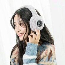 Earmuffs Women Ear-Protectors Smart-Wearing Bluetooth Warm Winter for New