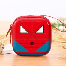Кошельки для монет с супергероями мультфильмов, Бэтмен, Капитан Америка, чехол для ключей для мальчиков, Детские кошельки с изображением Человека-паука, Супермена, гарнитура, сумки для монет
