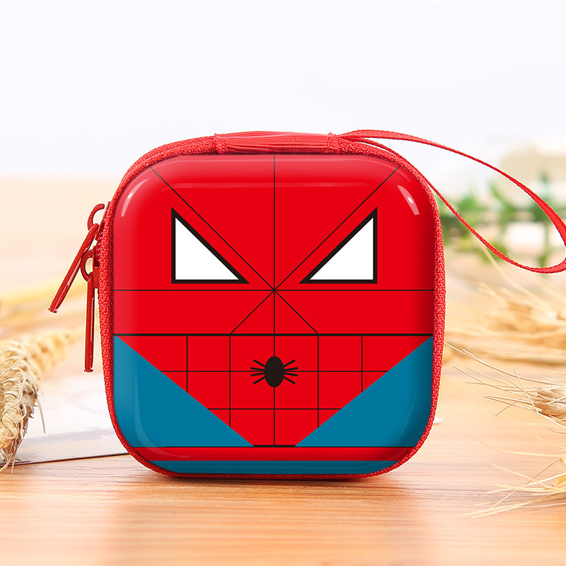 Superhero Cartoon Coin Purses Batman Captain America Boys Key Case Wallets Children Spider-Man Superman Headset Bag Coin Bags