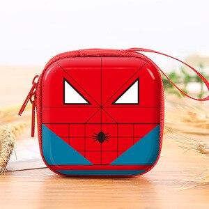 Superhero Cartoon Coin Purses Batman Captain America Boys Key Case Wallets Children Spider-Man Superman Headset Bag Coin Bags(China)
