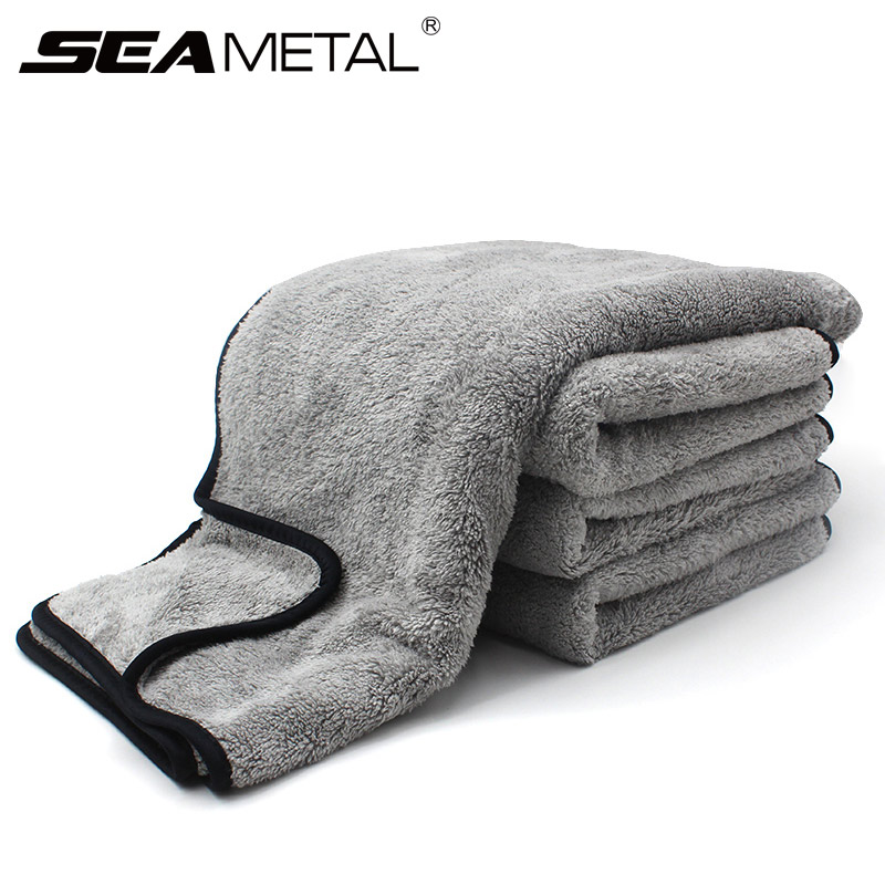 Полотенце из микрофибры, тряпочка для мытья автомобиля, уход за дверью и окном, плотная, сильное впитывание воды, аксессуары для автомобиля, ...