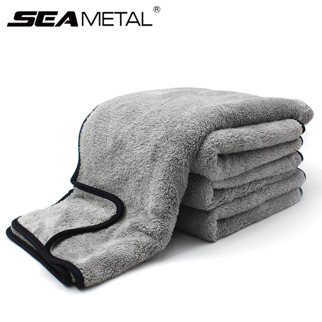 Microfiber Towel Car Wash Cloth Auto Cleaning Door Window Care Thick Strong Water Absorption For Car Home Automobile Accessories