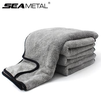 Ręcznik z mikrofibry myjnia samochodowa Auto czyszczenie drzwi okno pielęgnacja gruba mocna absorpcja wody do samochodu akcesoria samochodowe do domu tanie i dobre opinie SEAMETAL 75cm Polyester Gąbki Tkaniny i szczotki 0 08kg Car Wash Accessories Microfiber Towel 35cm Car Wash Towel Microfiber Cloth
