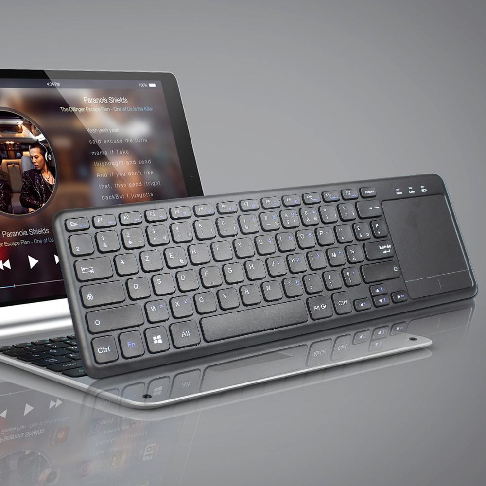 Clavier français L200 clavier sans fil 2.4G avec souris tactile pour ordinateur et TV