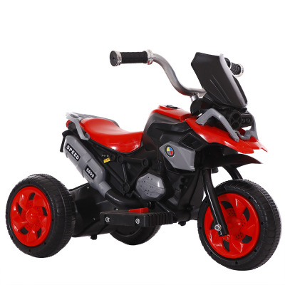 Children's Electric Motorcycle Tricycle Charging Car With Light Music Electric Car For Kids Ride On Boys Toy For 1-2-6 Years Old