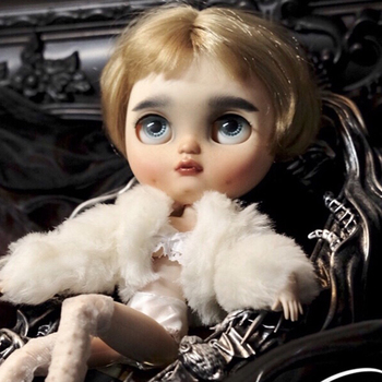 blyth Doll toys 19 joint Top Quality Chinese Doll BJD Ball Joint Doll Cute Short hair girl withmakeup Silver eyes and Red lips
