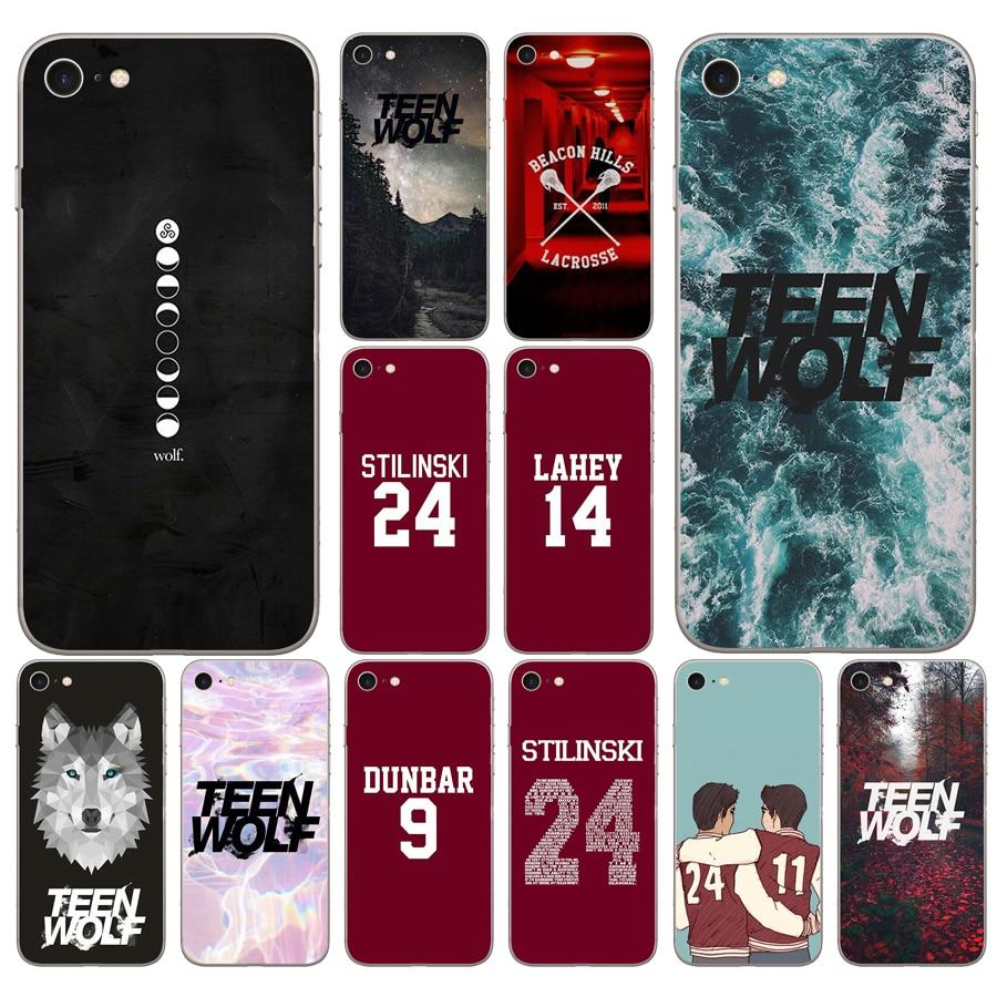 240DD Teen Wolf Stilinski 24 McCALL 11 LAHEY 14 DUNBAR 9 Coque Cover Case for iphone 5 5s se 6 6s 8 plus 7 7 Plus X XS SR MAX