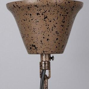 Image 3 - Ferrugem gaiola de ferro lustres E14 grande estilo Retro do vintage CONDUZIU a Iluminação da lâmpada do candelabro de cristal lustre para sala de estar quarto bar