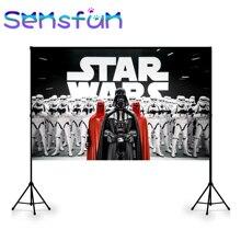 Виниловый фон для фотостудии на заказ, Звездные войны, вечерние баннеры для детского дня рождения, Постер 7x5ft