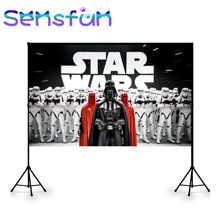 Custom Photo Studio Backdrop Vinyl Star Wars Background Banner Kids birthday Party Decoration Poster 7x5ft