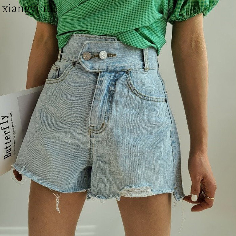 Best Discount 7609 Blue Sexy Frayed Denim Shorts Two Button Closing Women Jeans Short Pants Summer High Waist Slim Fit Vintage Shorts Streetwear Cicig Co Trouser jeans might seem intimidating when you're petite, but saladino offers a few tricks. cicig